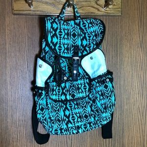 Other - Mint and black tribal backpack